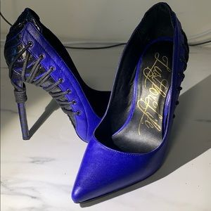 Sexy blue stiletto heels - size 5.5